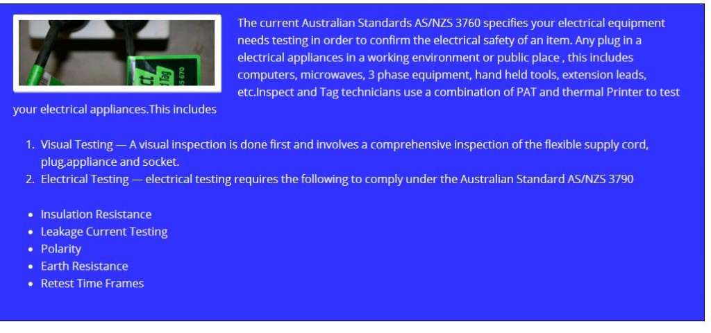 Electrical Equipment Testing and Tagging in Australia 1024x480 Electrical test and Tag – Extension Lead Fail